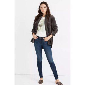 "Madewell Petite 8"" Skinny Jeans Greendale Wash 31"
